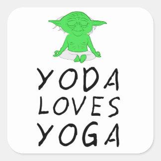 Pegatina Cuadrada la yoga ama yoga