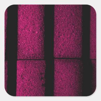 Pegatina Cuadrada Ladrillos púrpuras