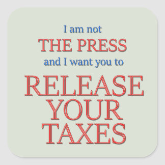 Pegatina Cuadrada Lance sus impuestos