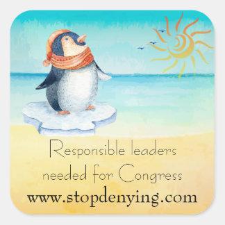 Pegatina Cuadrada Líderes responsables necesarios para el congreso