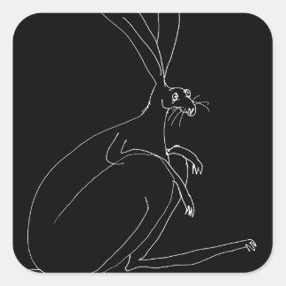 Pegatina Cuadrada liebres mágicas