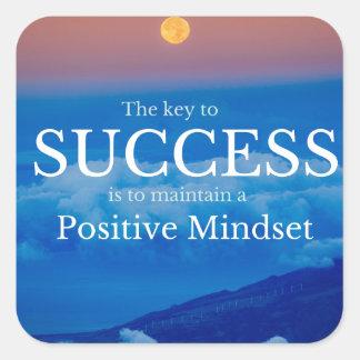 Pegatina Cuadrada Llave a la cita inspirada del éxito