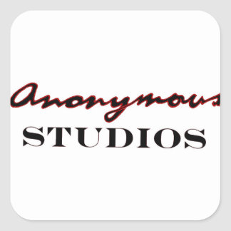 Pegatina Cuadrada Logotipo anónimo de los estudios