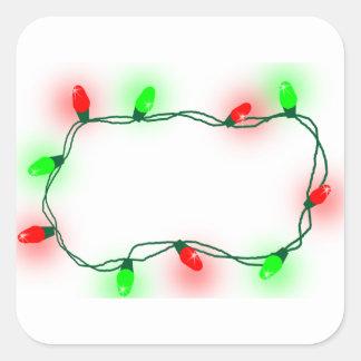 Pegatina Cuadrada Luces de navidad
