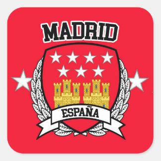 Pegatina Cuadrada Madrid