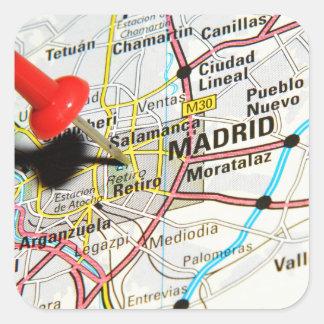 Pegatina Cuadrada Madrid, España