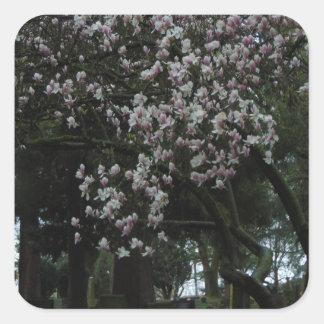 Pegatina Cuadrada Magnolias para siempre