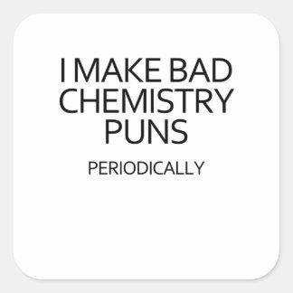 Pegatina Cuadrada mala química