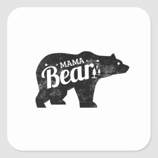 Pegatina Cuadrada Mamá Bear Sticker Decal