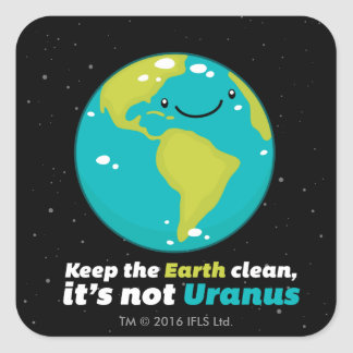Pegatina Cuadrada Mantenga la tierra limpia