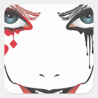 Pegatina Cuadrada Maquillaje de Halloween