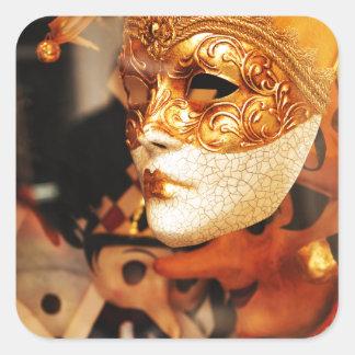 Pegatina Cuadrada Máscaras venecianas