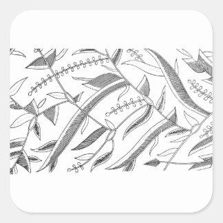 Pegatina Cuadrada Materia textil frondosa indonesia