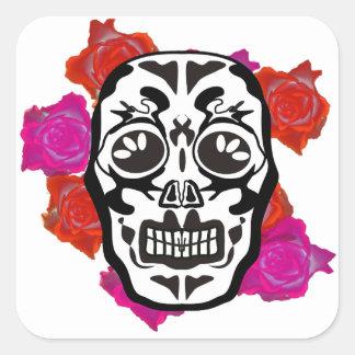 Pegatina Cuadrada Mexican Skull