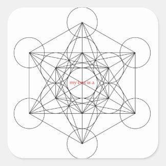 Pegatina Cuadrada mi caja es… El cubo de Metatron