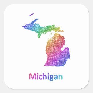 Pegatina Cuadrada Michigan