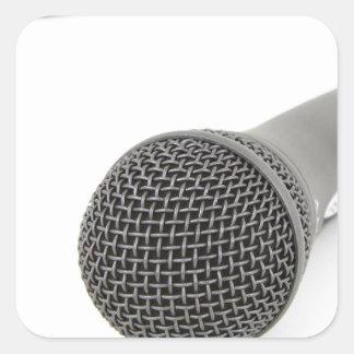 Pegatina Cuadrada Micrófono - charla a mí
