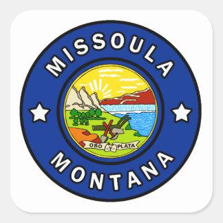 Pegatina Cuadrada Missoula Montana
