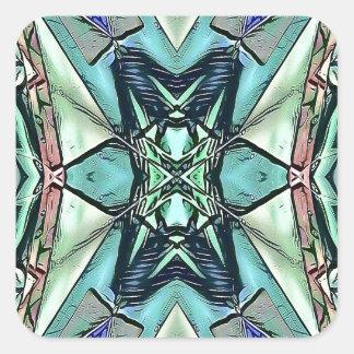 Pegatina Cuadrada Modelo artístico del trullo del melocotón moderno