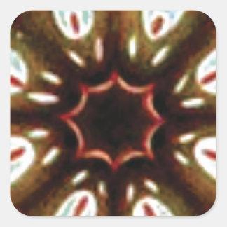 Pegatina Cuadrada modelo colorido del punto
