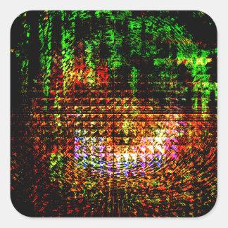 Pegatina Cuadrada modelo del caleidoscopio del radar