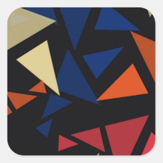 Pegatina Cuadrada Modelo geométrico colorido