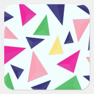 Pegatina Cuadrada Modelo geométrico colorido II
