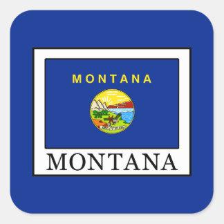 Pegatina Cuadrada Montana