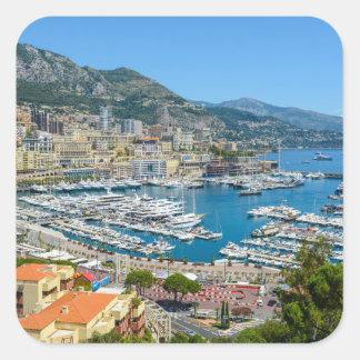 Pegatina Cuadrada Monte Carlo Mónaco