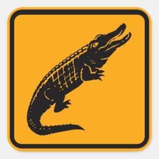 Pegatina Cuadrada Muestra de Australia de los cocodrilos (paquete de