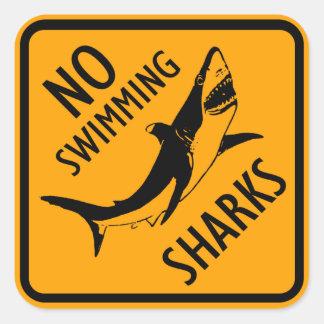 Pegatina Cuadrada Muestra de Australia de los tiburones (paquete de