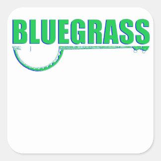 Pegatina Cuadrada Música de Bluegrass