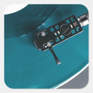 Pegatina Cuadrada Música del álbum de disco de vinilo de la placa