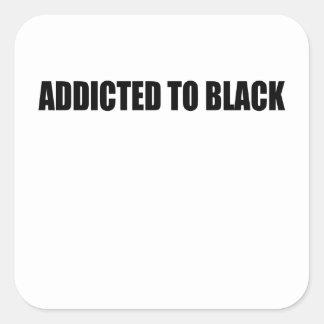 Pegatina Cuadrada negro