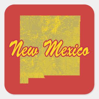 Pegatina Cuadrada New México