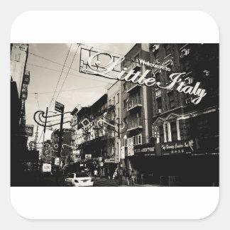 Pegatina Cuadrada New York City poca Italia