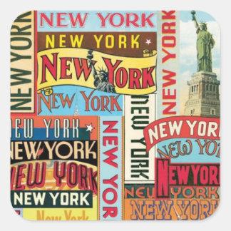 Pegatina Cuadrada New York New York