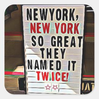 Pegatina Cuadrada Nueva York, pegatinas de NY New York City