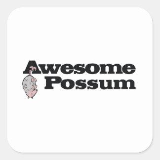 Pegatina Cuadrada ¡Oposum impresionante!