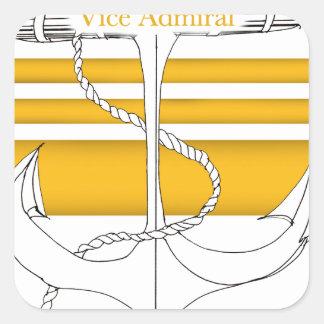 Pegatina Cuadrada oro vicealmirante, fernandes tony