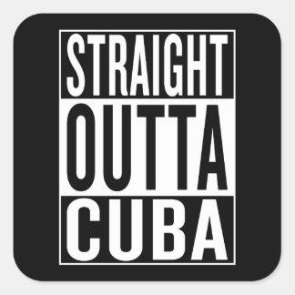 Pegatina Cuadrada outta recto Cuba