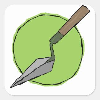 Pegatina Cuadrada Paleta verde - el juego de herramientas del