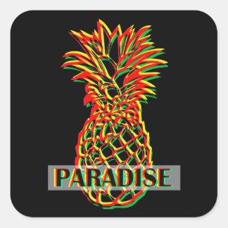 Pegatina Cuadrada Paraíso de la piña