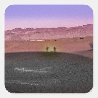 Pegatina Cuadrada Parque nacional de Death Valley de la salida del