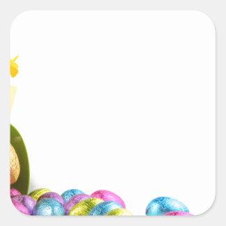 Pegatina Cuadrada Pascua
