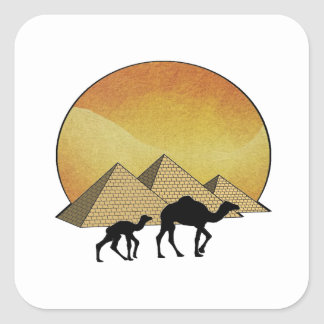 Pegatina Cuadrada Paso egipcio