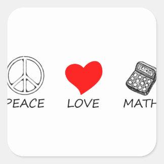 Pegatina Cuadrada paz love5