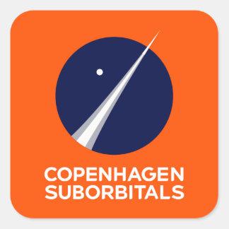 Pegatina Cuadrada Pegatinas cuadrados con el logotipo de Copenhague