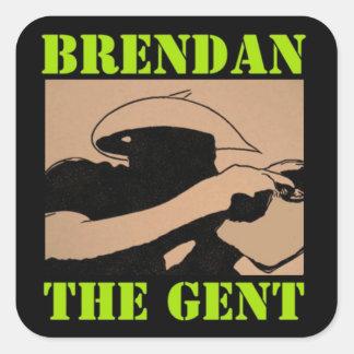 Pegatina Cuadrada Pegatinas de BrendanTheGent