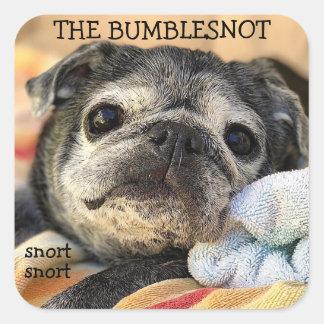 Pegatina Cuadrada Pegatinas de Bumblesnot: snort del snort